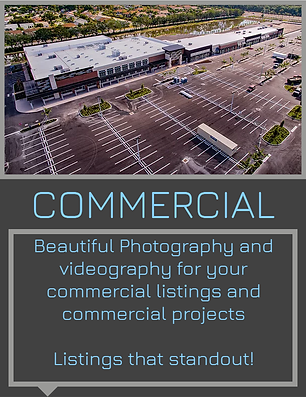Beautifful photography and vidography for your commercial listings and commercial projects.