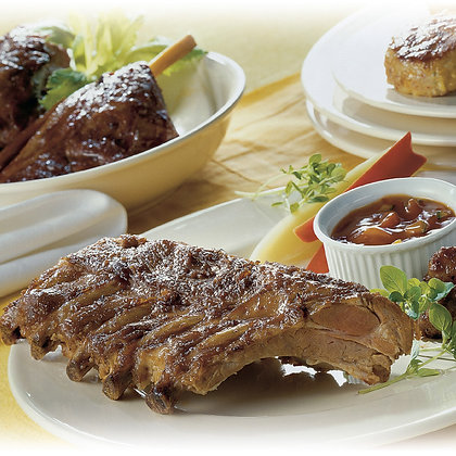 Costillas de Cerdo con Salsa Barbacoa (550 g)