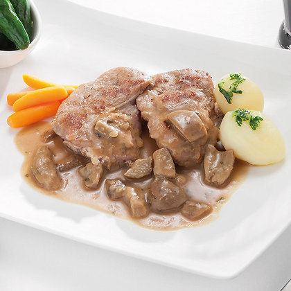 Solomillo de Cerdo con Salsa de Setas y Foie (300 g)