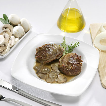 Carrillada de Cerdo con Salsa de Champiñones (300 g)