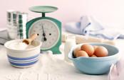 Baking, Chloe's Kitchen, Eggs, Flour, Sugar, Scale, Milk, Rolling Pin