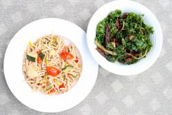 Lo Mein and Italian Kale Salad