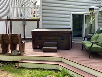 Wired Hot Tub on Deck in Haverhill MA