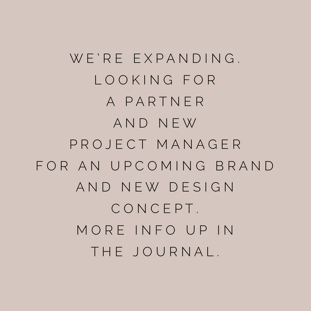 BE PART OF A NEW INTERIOR & DESIGN CONCEPT AS A PROJECT MANAGER