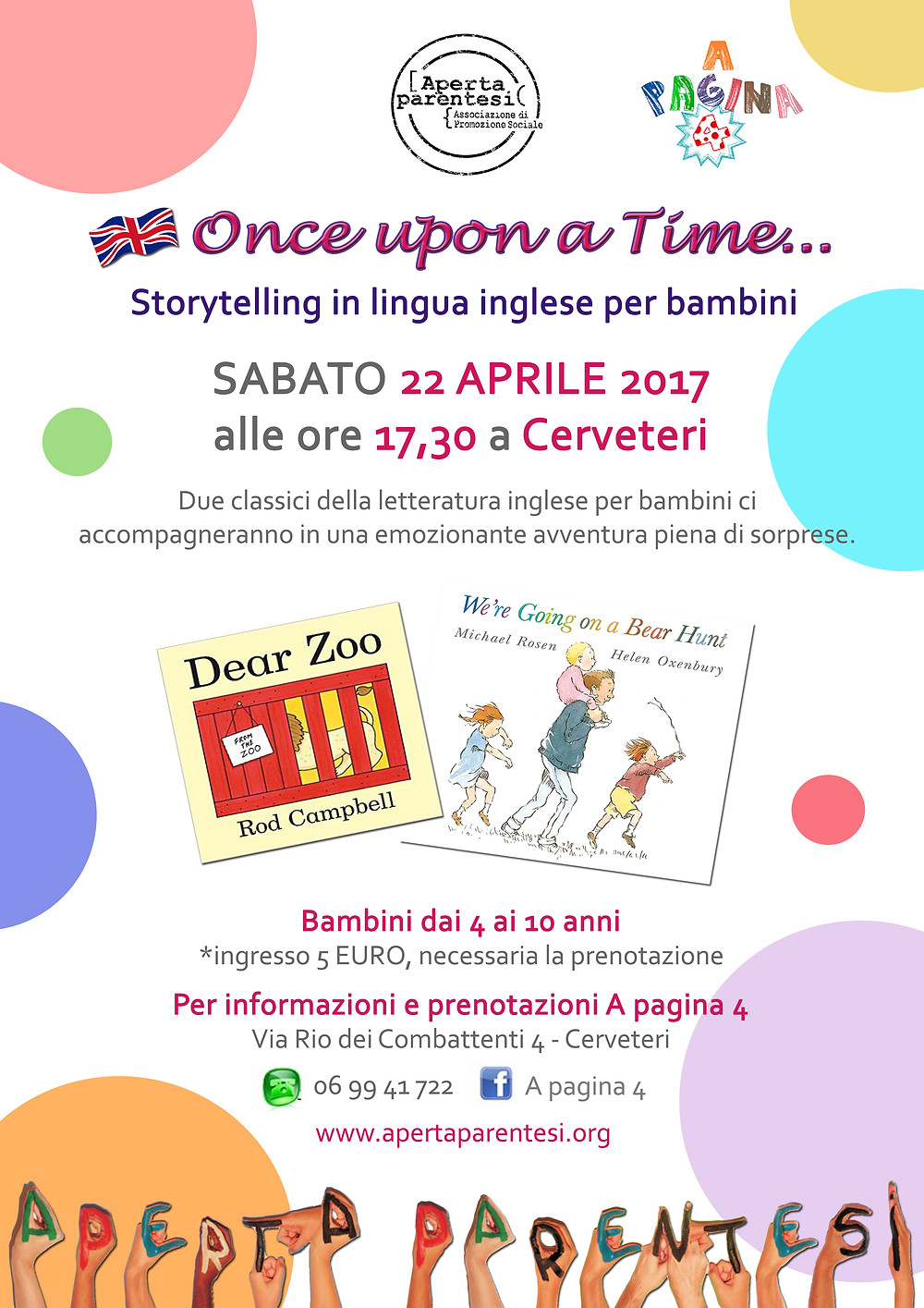 Storytelling in lingua inglese per bambini