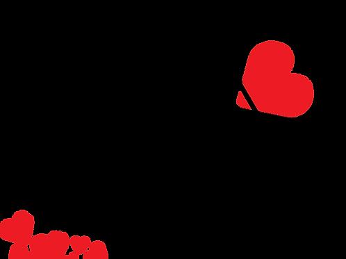 Valentine iron on transfer- heart crusher