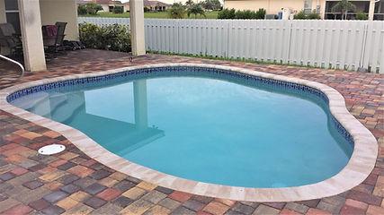 paver brick pool deck