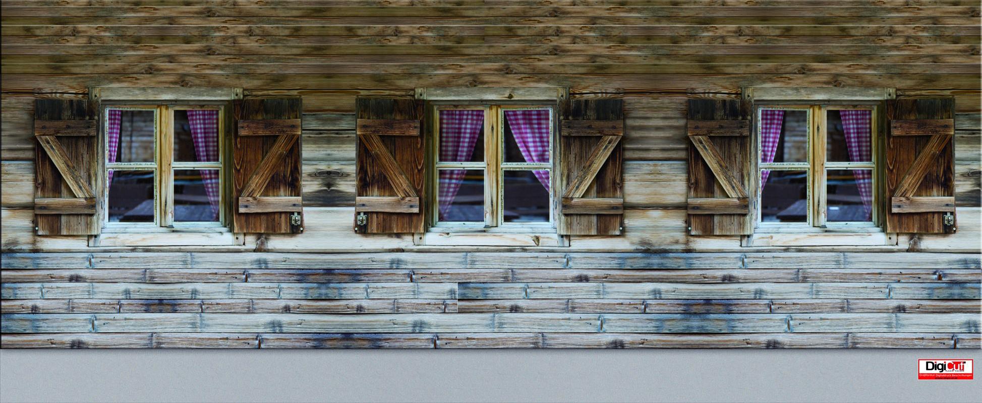 Plane - Holzfenster 730x300 cm
