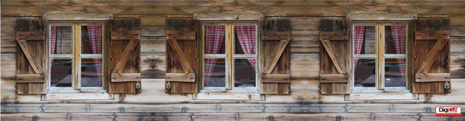 Gittex - Holzfenster  1150x300 cm