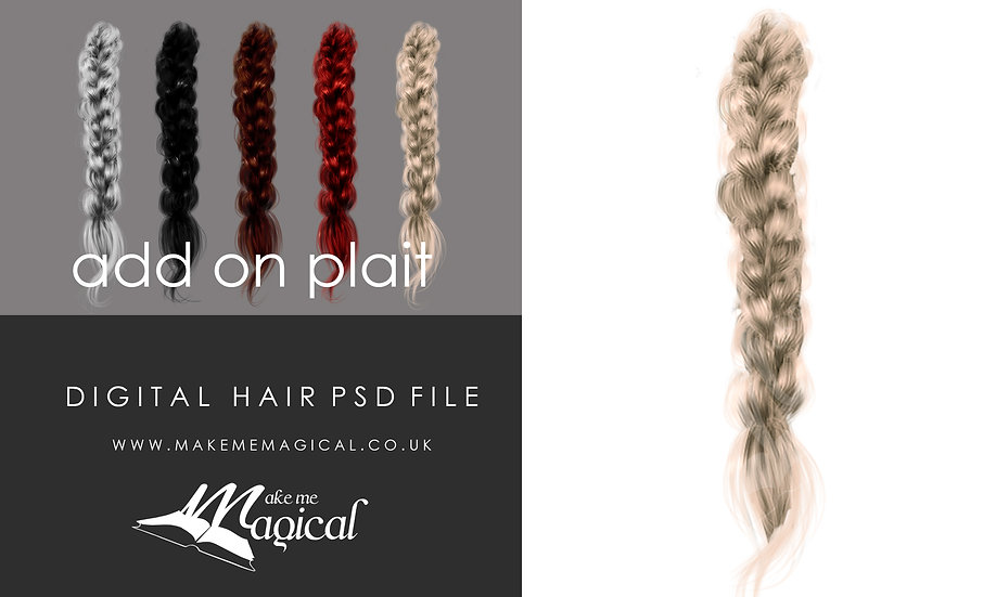 Addon plat digital instant hair psd overlay by makememagical