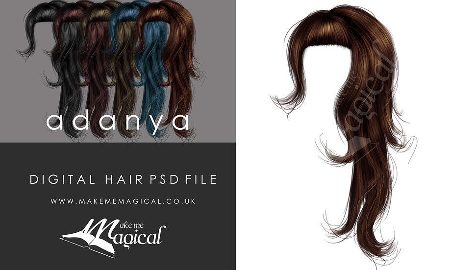 Adanya Digital Painted Instant Hair PSD Overlay by Makememagical