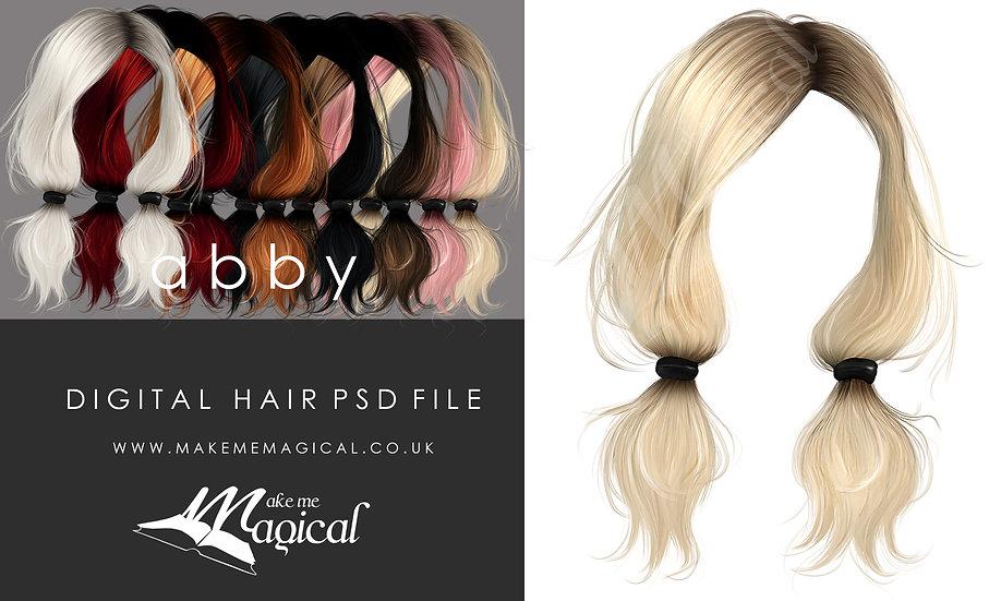 Abby Digital Painted Instant Hair PSD Overlay by Makememagical