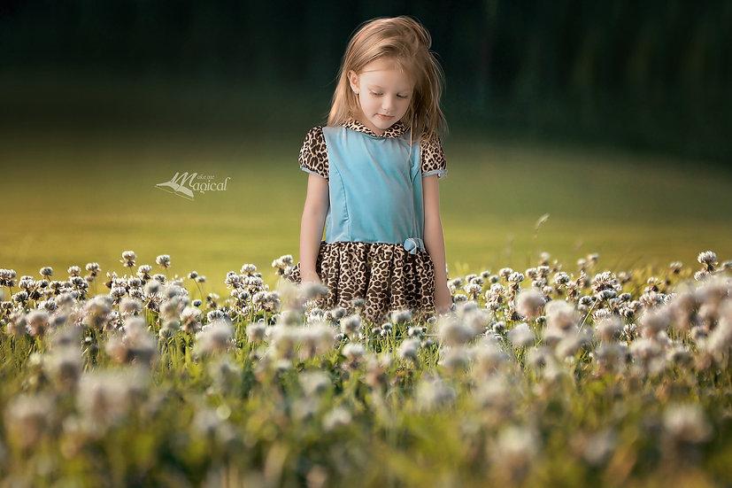 Digital Backdrop | Digital Background | Lush green clover fields pack x 6