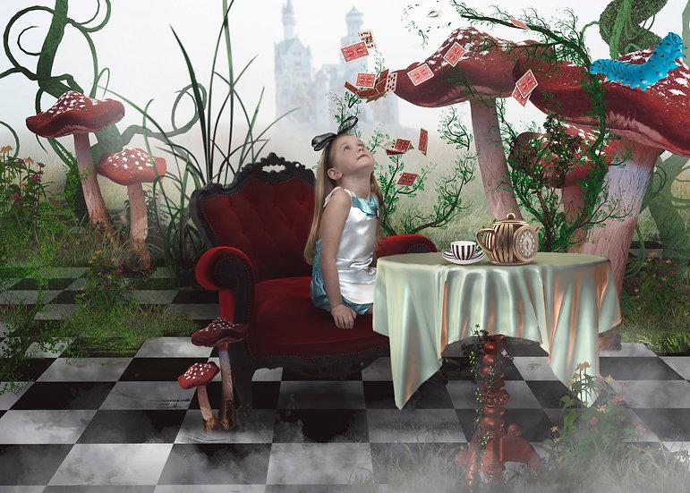 Alice in Wonderland Backdrop Pack - 3 digital files