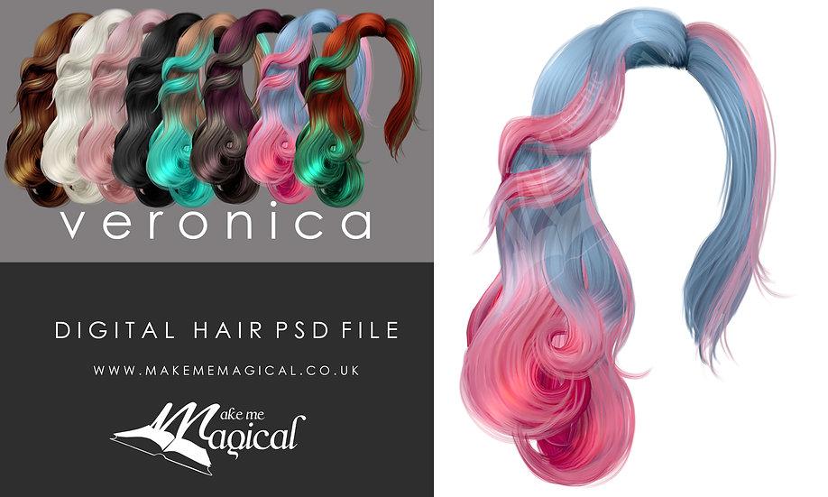 Veronicadigitalpainted instant hair overlay psd by makememagical