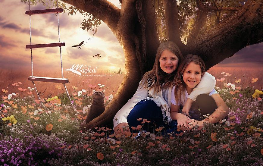 Digital Backdrop | Digital Background | Field Backdrop |Flower Meadow
