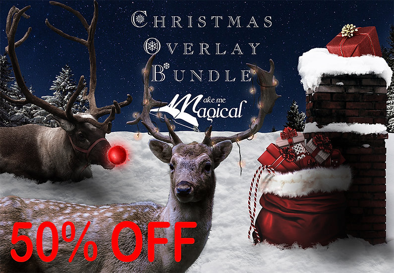 Christmas Overlay Bundle - Postboxes, reindeer, red noses, santa hats, plus more