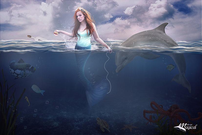 Underwater Backdrop | Mermaid digital backdrop | Fish Backdrop | Mermaid