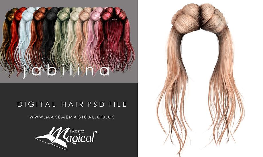 Jabilna digital painted instant hair overlay psd by makememagical