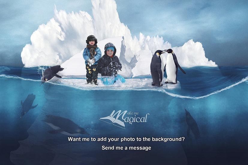 Digital Background | Digital Backdrop | Winter Backdrop | Iceberg Background