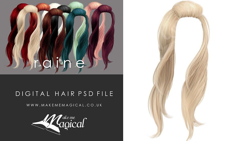 Raine digital painted instant hair overlay psd by makememagical