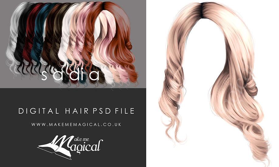 Sadia digital painted instant hair overlay psd by makememagical
