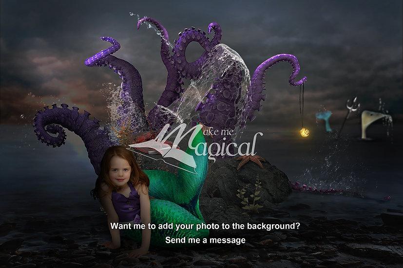 Digital Backdrop | Little Mermaid | Princess Background | Mermaid Backdrop