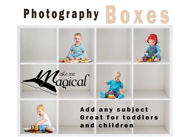 Box Photography Template Pack