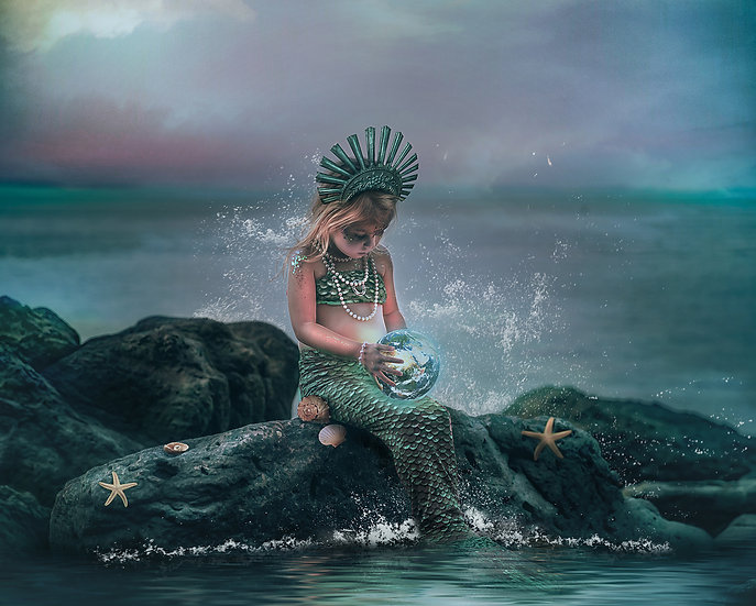 Fantasy Mermaid Photoshop Composite Editing Tutorial by Makememagical