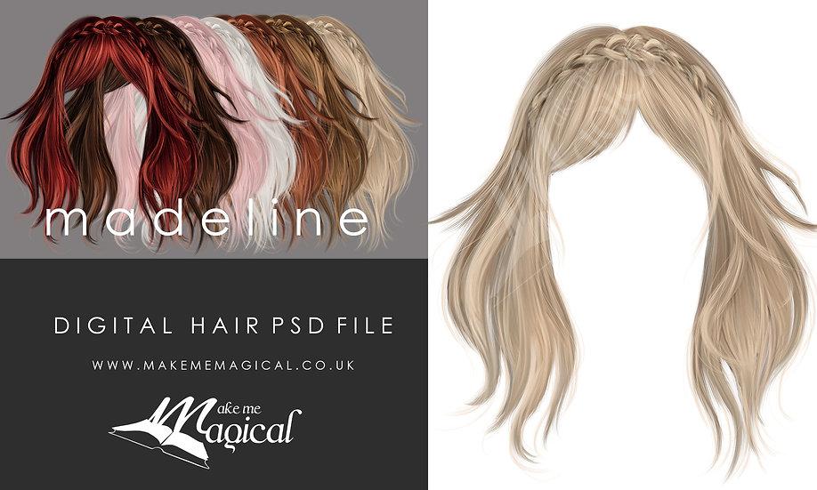 Madeline digital painted instant hair overlay psd by makememagical