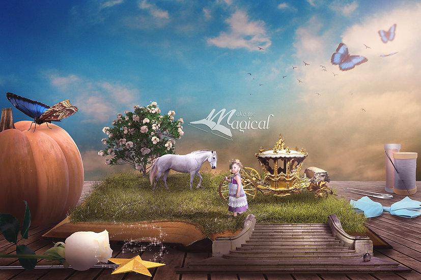 Cinderella Digital Backdrop , Cinderella Digital Background, Cinderella Stairs