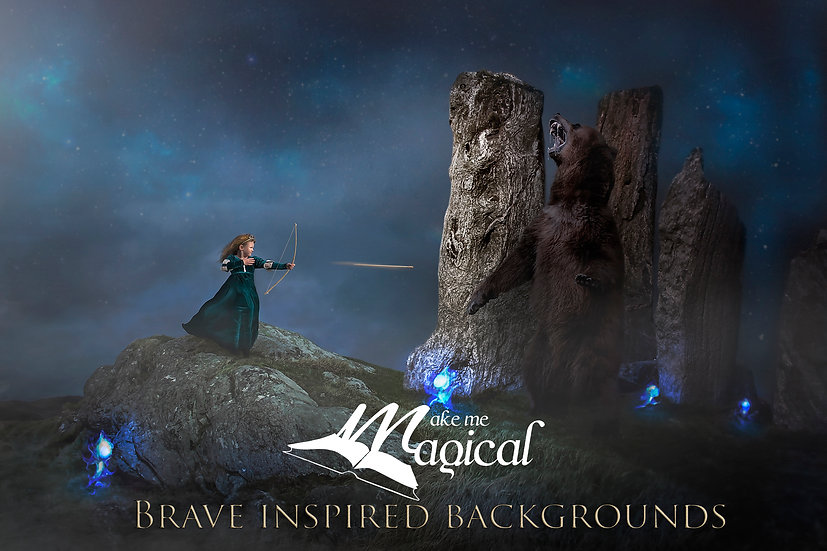 Brave Inspired Backgrounds, Scotland, Callanish Stones, digital background