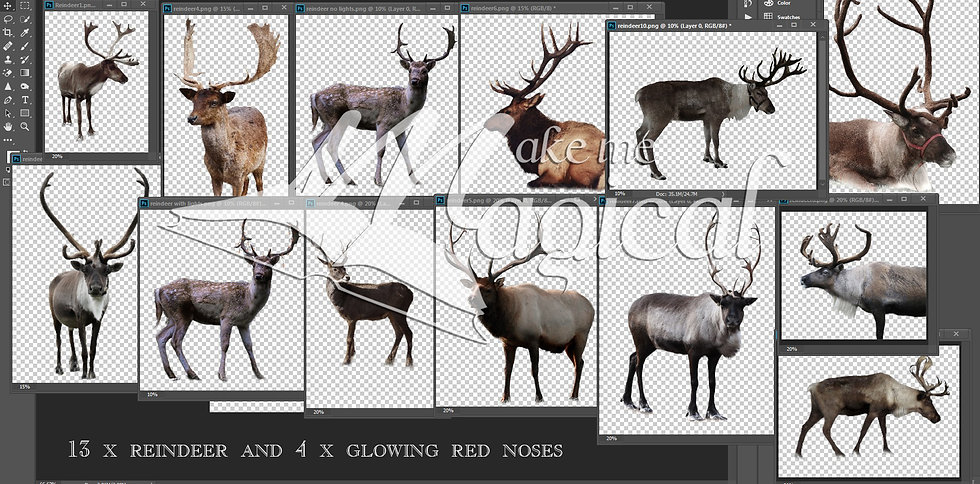 Reindeer and glowing noses - Christmas Overlays