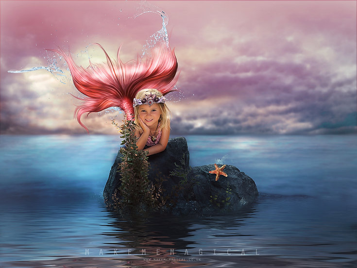 Mermaid digital Backdrop | Mermaid digital Background | Ocean Backdrop | seaside