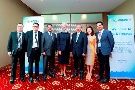 At the ASEAN Business & Investment Summit in Laos (Sept 2016)