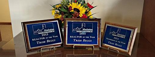 Realtor of the year, Manhattan Association of Realtors, Manhattan Kansas, Trish Beggs Realtor, Real Estate Agenet Awards