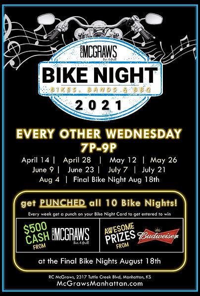 Bike Night 2021 RC McGraws Bar and Grill, Manhattan, Kansas