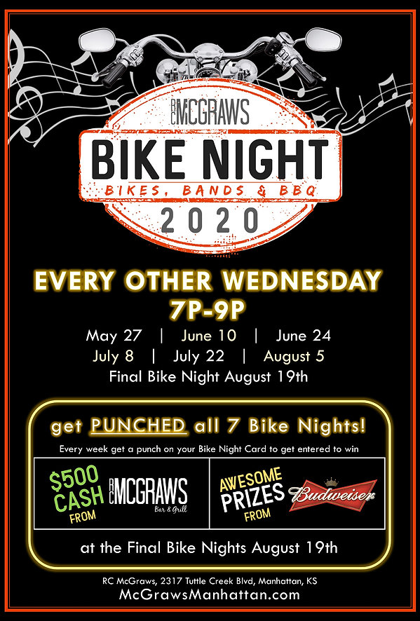 RC Mcgraws Bike Night Flyer 2020