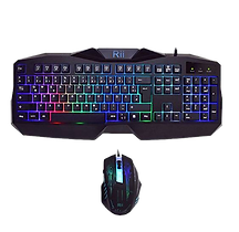 Rii RK400 Gaming LED Tastatur+Maus Set Wasserdicht