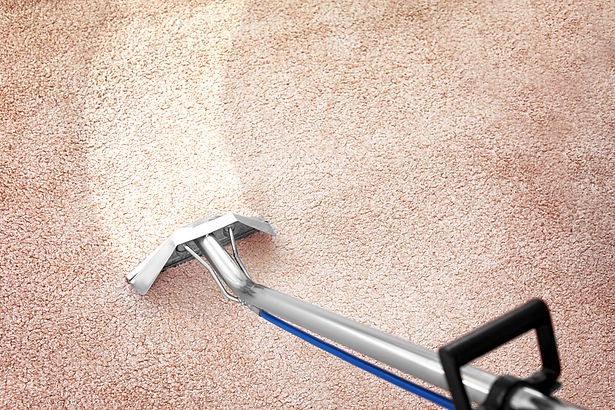 Removing dirt from carpet with professio