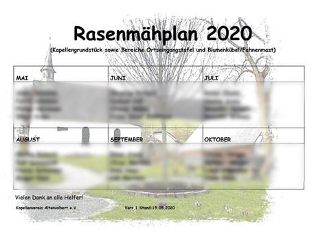 Rasenmähplan 2020