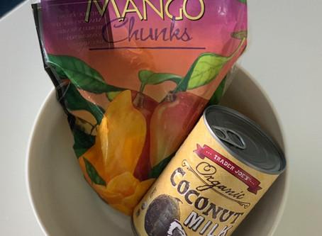 "2 Ingredient Mango ""Ice Cream"""
