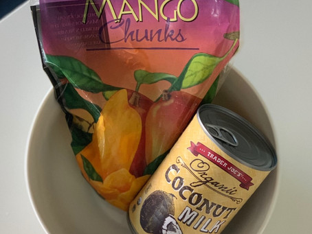 "2 Ingredient Mango ""Ice Cream"""