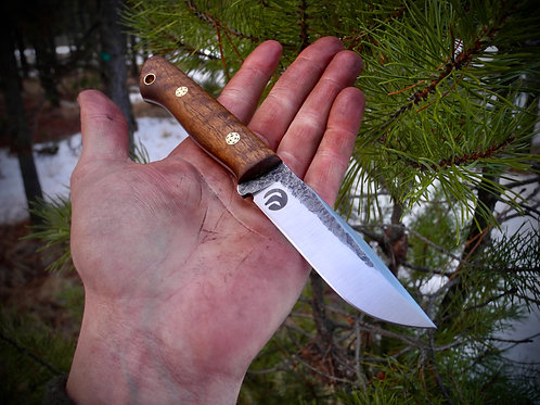 Wilderness EDC-Walnut, Mosaic Pins, and Natural Liners