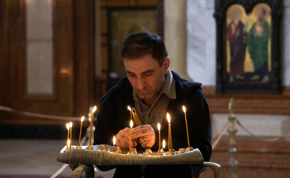 In der Sameba-Kathedrale in Tiflis