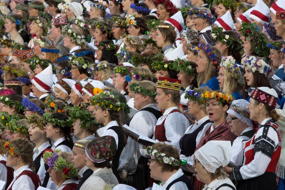 Ein unvergessliches Erlebnis sind die Sängerfeste im Baltikum (Riga, Lettland)