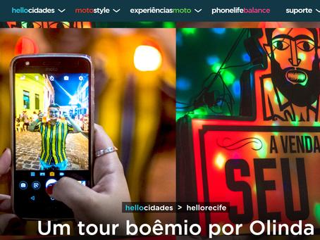 Hellomoto > Helloolinda - Motorola no tour boêmio de Olinda