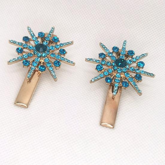 Set of mini coloured celestial clips
