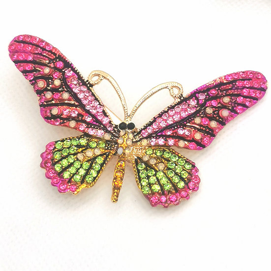Jewelled butterfly clip
