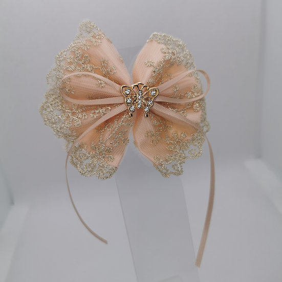 Satin and lace bow